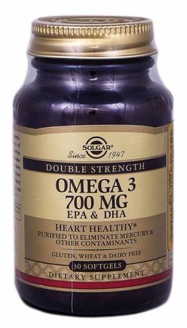 Solgar Подвійна Омега-3 700 мг ЕПК та ДГК капсули 30 шт