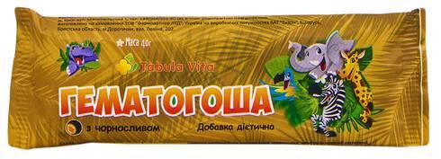 Tabula Vita Гематогоша з чорносливом плитка 40 г