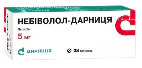 Небіволол Дарниця таблетки 5 мг 28 шт