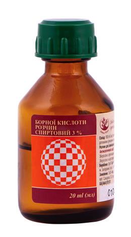 Борної кислоти Arbor Vitae розчин спиртовий 3 % 20 мл 1 флакон