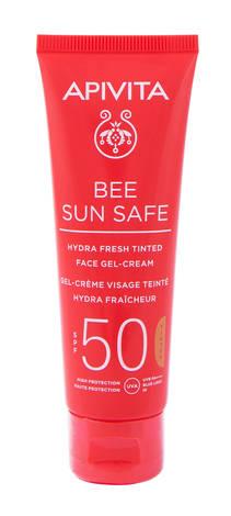 Apivita Bee Sun Safe Сонцезахисний гель-крем для обличчя тонуючий SPF50 50 мл 1 туба