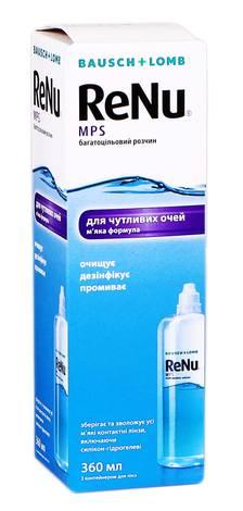 ReNu MPS багатоцільовий розчин для контактних лінз 360 мл 1 флакон