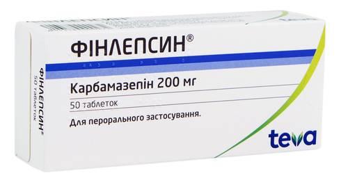 Фінлепсин таблетки 200 мг 50 шт