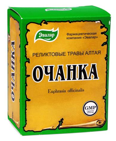 Евалар Очанка трава 50 г 1 коробка