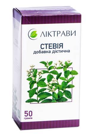 Ліктрави Стевія листя листя 50 г 1 коробка