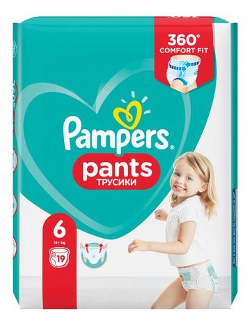 Pampers Pants 6 Extra large Підгузки-трусики дитячі 15+ кг 19 шт