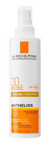 La Roche-Posay Anthelios Спрей сонцезахисний для чутливої до сонця шкіри обличчя та тіла SPF-30 200 мл 1 флакон