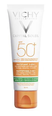 Vichy Capital Soleil Крем матуючий 3-в-1 для жирної, проблемної шкіри SPF-50+ 50 мл 1 туба