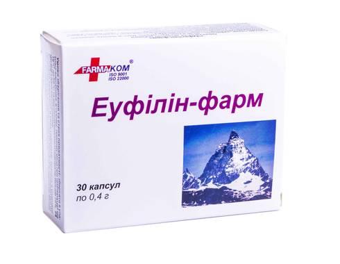 Еуфілін-Фарм капсули 0,4 г 30 шт