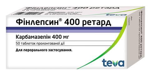 Фінлепсин 400 Ретард таблетки 400 мг 50 шт
