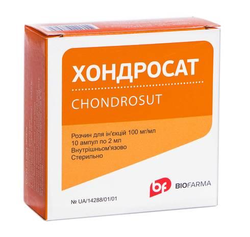 Хондросат розчин для ін'єкцій 100 мг/мл 2 мл 10 ампул