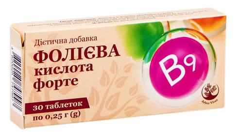Arbor Vitae Фолієва кислота форте таблетки 0,4 мг 30 шт