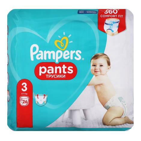 Pampers Pants 3 Підгузки-трусики дитячі 6-11 кг 26 шт