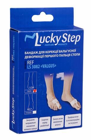 Lucky Step LS3082 Бандаж для корекції вальгусної деформації першого пальця стопи лівий 1 шт