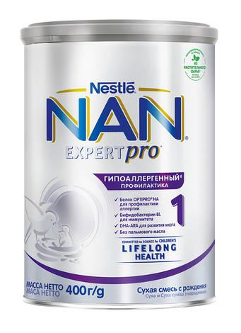 NAN Гіпоалергенний 1 Optipro Суха дитяча молочна суміш з народження 400 г 1 банка