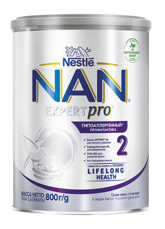 NAN Гіпоалергенний 2 Optipro Суха дитяча молочна суміш з 6 місяців 400 г 1 банка