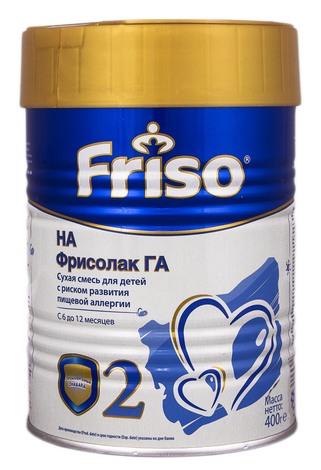 Friso 2 Фрісолак ГА Суміш молочна Гіпоалергенний з 6 до 12 місяців 400 г 1 банка