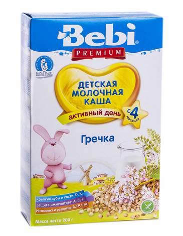 Bebi Premium Каша молочна гречана з 4 місяців 200 г 1 коробка