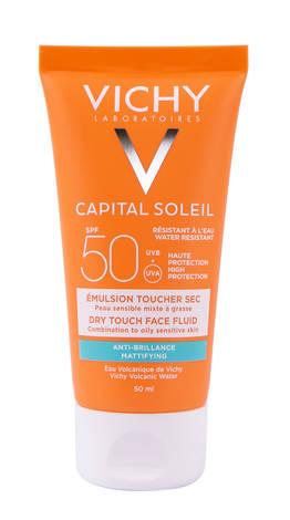 Vichy Capital Soleil Сонцезахисний матуючий флюїд для комбінованої та жирної чутливої шкіри обличчя SPF-50 50 мл 1 туба