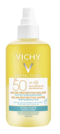 Vichy Capital Soleil Спрей водний двофазний зволожуючий для обличчя та тіла з гіалуроновою кислотою SPF-50 200 мл 1 флакон
