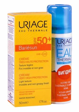Uriage Bariesun крем сонцезахисний SPF-50+ 50 мл + термальна вода 50 мл 1 набір