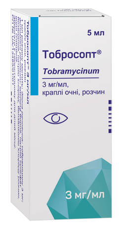 Тобросопт краплі очні 3 мг/мл 5 мл 1 флакон