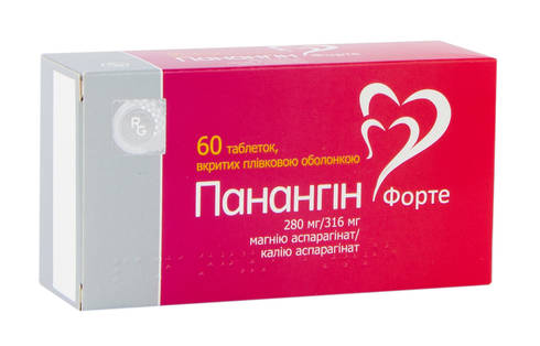 Панангін Форте таблетки 280 мг/316 мг 60 шт