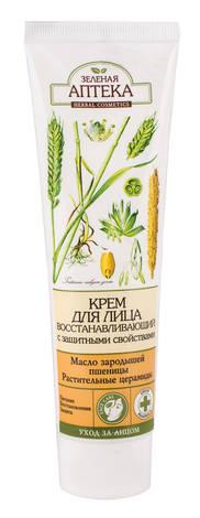 Зелена Аптека Крем для обличчя відновлюючий із захисними властивостями 100 мл 1 туба
