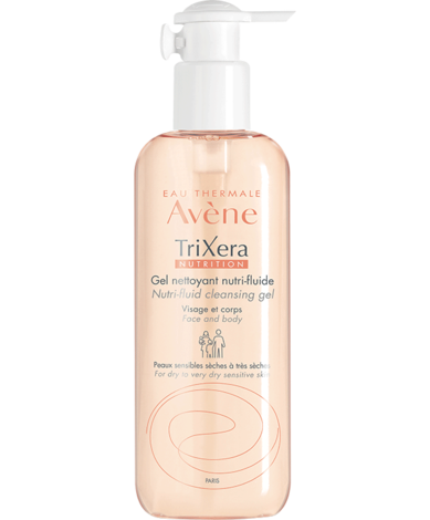 Avene TriXera nutrition Гель нутрі-флюїд очищувальний для сухої чутливої шкіри 400 мл 1 флакон