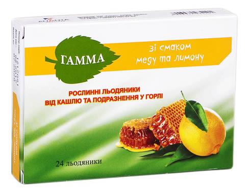 Гамма зі смаком меду та лимону льодяники 24 шт