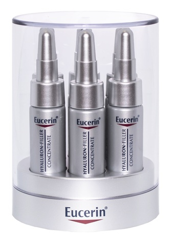 Eucerin Hyaluron-Filler Концентрат проти глибоких зморшок 5 мл 6 ампул