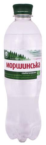 Моршинська Вода мінерально-столова слабогазована 0,5 л 1 пляшка
