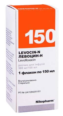 Левоцин-Н розчин для інфузій 500 мг/100 мл  150 мл 1 флакон