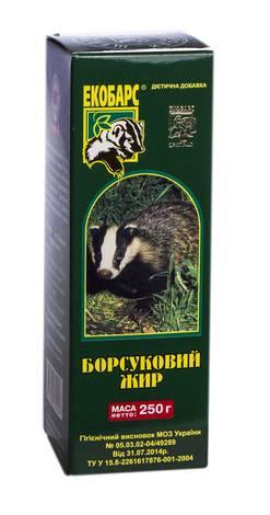 Екобарс Борсуковий жир розчин оральний 250 г 1 флакон
