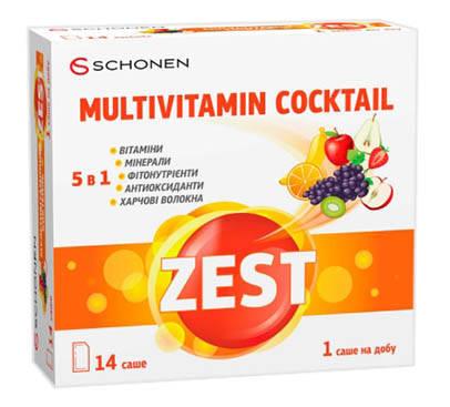 Zest Мультивітамінний коктейль порошок 14 саше