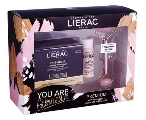 Lierac Premium крем 50 мл + міцелярний засіб 30 мл + ролер для обличчя 1 набір