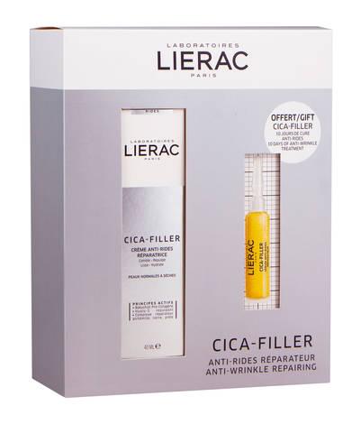Lierac Cica-Filler Відновлюючий крем проти зморшок 40 мл + Відновлююча сироватка проти зморшок 10 мл 1 набір
