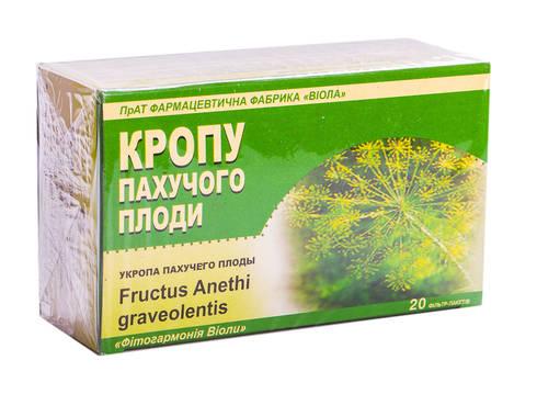 Віола Кропу пахучого плоди 3 г 20 фільтр-пакетів