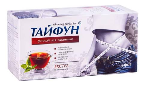 Тайфун Фіточай для схуднення Екстра 2 г 30 фільтр-пакетів