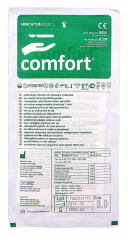Comfort Рукавички латексні хірургічні припудрені стерильні розмір 8 1 пара