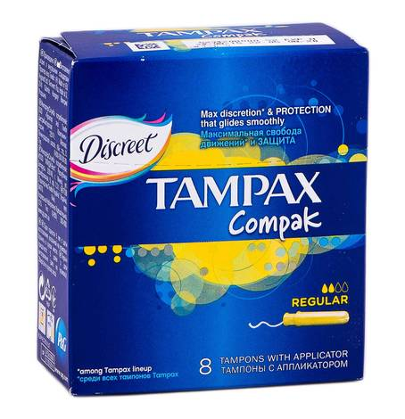 Tampax Compak  Regular Тампони з аплікатором 8 шт