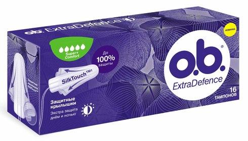 o.b. ExtraDefence Super+ Comfort Тампони 16 шт