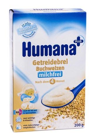 Humana Каша безмолочна гречана від 6 місяців 200 г 1 коробка