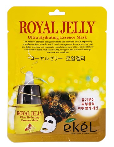 Ekel Маска  для обличчя з екстрактом Бджолиного маточного молочка 25 мл 1 пакет