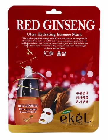 Ekel Маска для обличчя з екстрактом Червоного женьшеню 25 мл 1 пакет