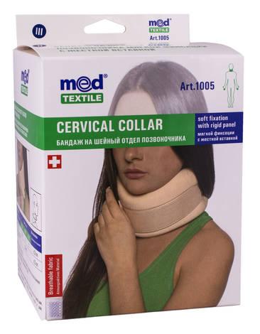 MedTextile 1005 Бандаж на шийний відділ хребта м'якої фіксації з жорсткою вставкою розмір 3 1 шт