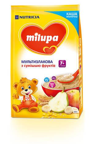 Milupa Каша молочна мультизлакова з сумішшю фруктів з 7 місяців 210 г 1 пакет