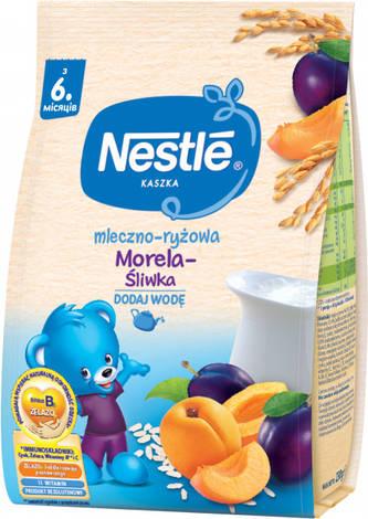 Nestle Каша молочна рисова зі сливою та абрикосом з біфідобактеріями з 6 місяців 230 г 1 пакет