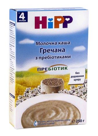 HiPP Каша молочна гречана з пребіотиками з 4 місяців 250 г 1 коробка