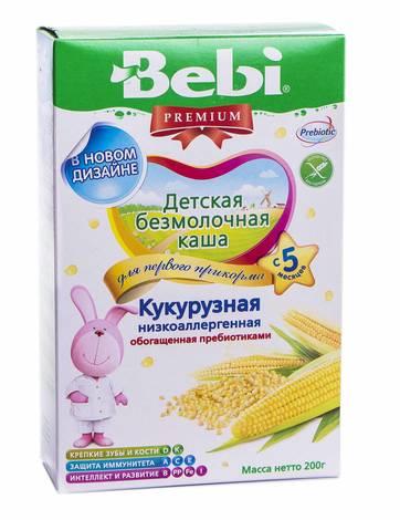 Bebi Premium Каша безмолочна кукурудзяна низькоалергенна з 5 місяців 200 г 1 коробка